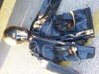 jacket helmet and gloves