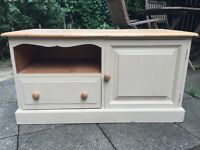 Pine TV cabinet painted in Annie Sloan
