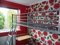 Single metal High sleeper bed