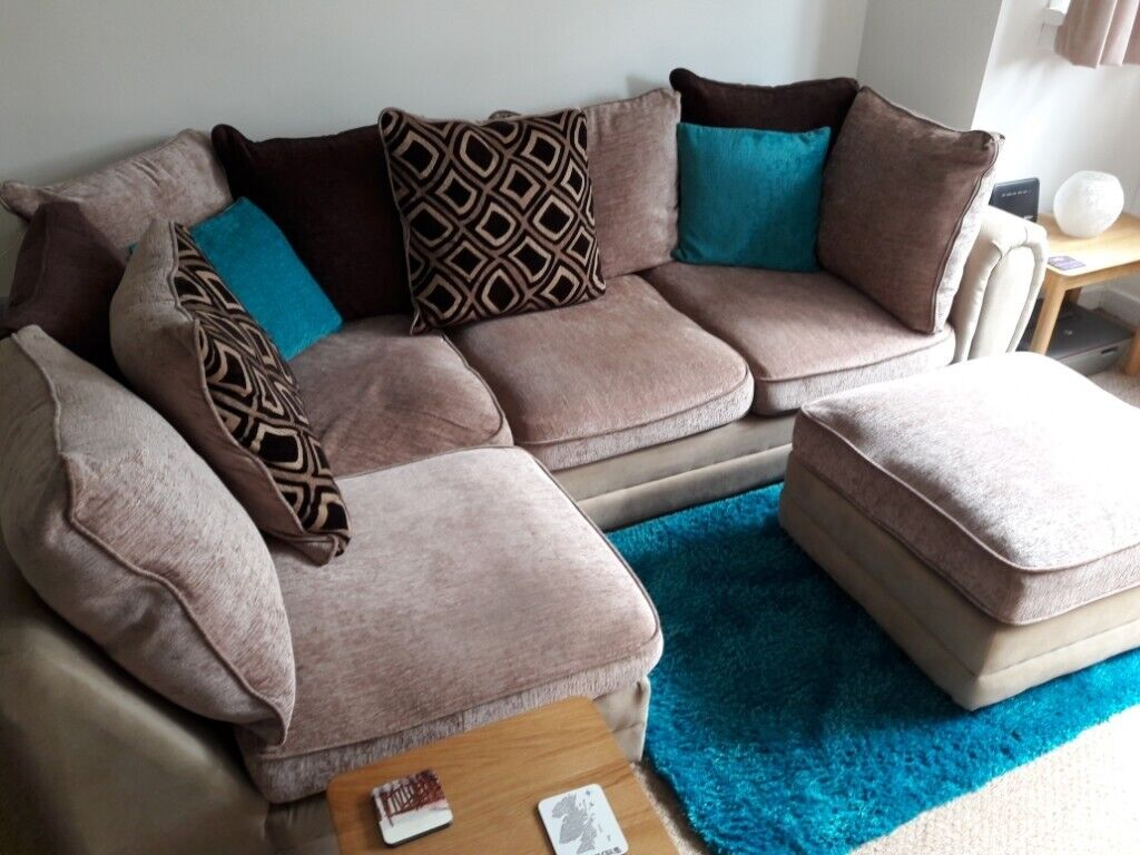 new style 250fe ae895 Wyvern 3 seater corner sofa and footstool | in Southside, Glasgow | Gumtree