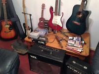 guitars Drum machine and lots more what you see in pic all of it