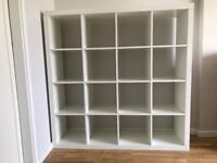 IKEA Kallax large shelving unit, high gloss white