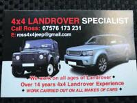 Land Rover Range Rover mechanic 4x4 specialist garage