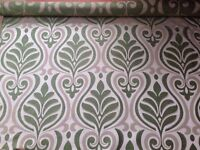 4.65m Designer Remnant Fabric for Curtains / upholstery/ upcycling/ sewing/ crafts