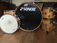 Sonor Force 2005 Series Full Birch Drum Kit - Amazing Condition With Extras - Natural Finish