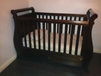 Boori 3in1 dark wood sleigh cot/bed/daybed