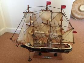 HMS Warrior model ship wooden