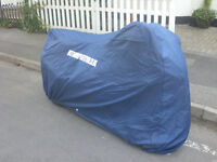 BRAND NEW: MOTOBIKE COVER WATERPROOF AIR VENTS ELASTIC HEM FRONT AND REAR