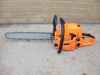 """Brand New 52cc chainsaws with 18"""" or 20"""" bar. Plus safety wear"""