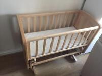 Mother care deluxe gliding crib RPP £110