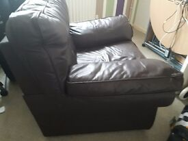 ***FREE*******COLLECTION ONLY need gone A.S.*** Comfy brown leather armchair