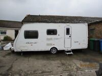 Caravan with motor mover and awning fitted