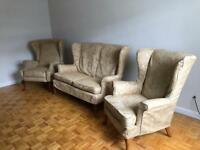 Double sofa + 2 armchairs 3 piece set