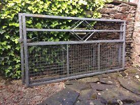 "Large galvanised steel gates 2 no. 85""long x45"" high"