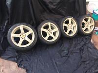 Bk Racing alloy wheels