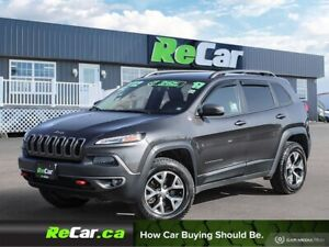 2017 Jeep Cherokee Trailhawk 4X4 | HEATED LEATHER | PANORAMIC...