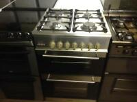 Stainless steel gas cooker (fan oven)