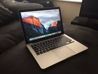 "Like new - barely used - Latest model 13"" Macbook Pro Retina Display SSD"