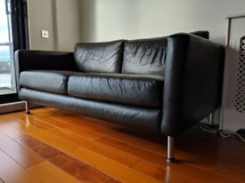 Set of Brown Real Leather Sofas (2 seater and a 2.5 seater)