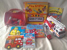 Fire Toy Bundle Fire Engine Convert a book Finley Fire DVD books