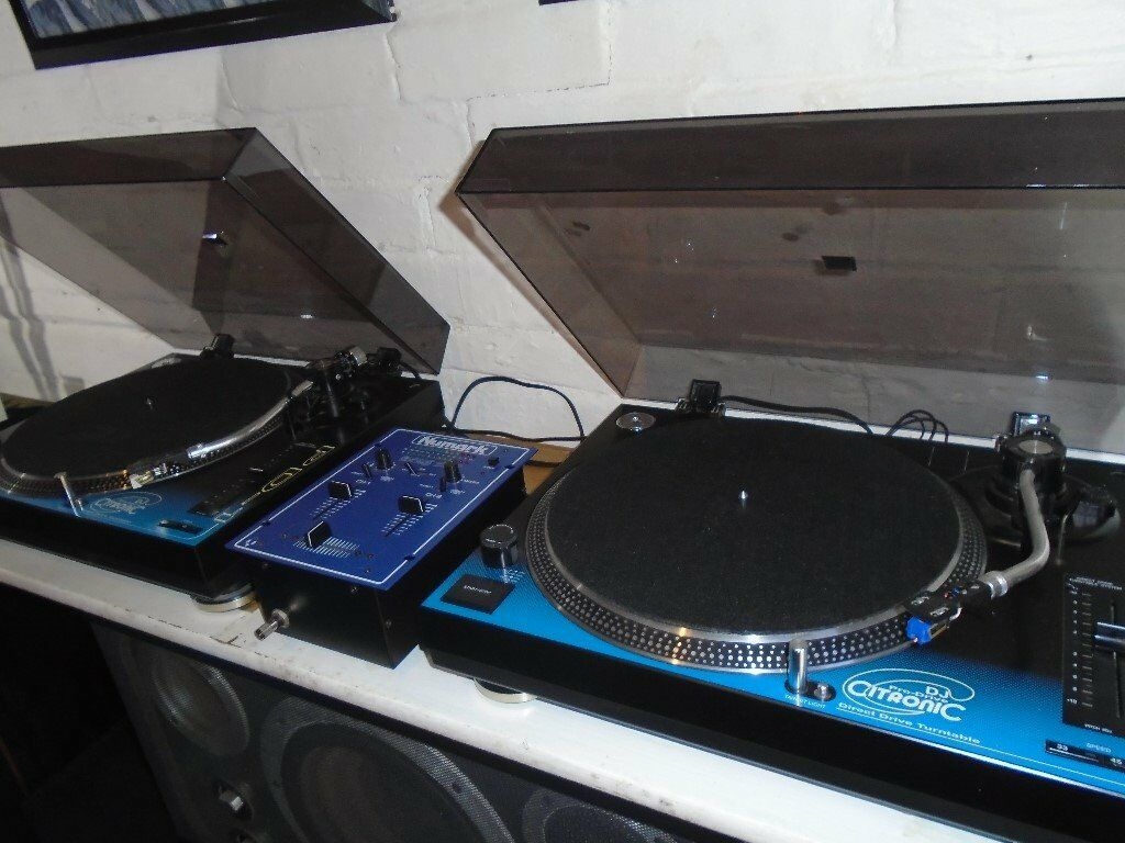 DIRECT DRIVE TURNTABLES/MIXER/NEEDLES/SLIP MATS