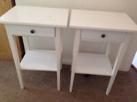 Ikea - Bedside tables Hemnes (x2) - White stain - Used for 5 months - Ferndown, Dorset