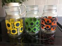 Oral kiely storage jars set of 3 £10 ip2