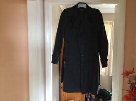 Black trench coat as new! Debenhams size 12