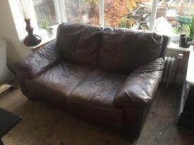 Réal Italian leather sofa