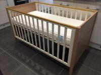 Memphis cot bed with mattress wardrobe and drawer set