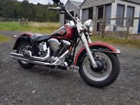 Harley Davidson EVO 1340 FLSTC softail ONLY 7K MILES FROM NEW px big classic jap or muscle bike