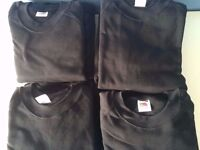 12 Black Fruit of the Loom Sweaters FOTL