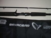 savage gear mpp multi purpose predator big lure & jerk rod 100g cassting weight