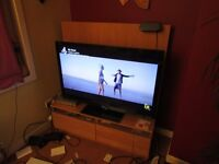 SHARP 48'' HD LCD TV together with LARGE SOLID CABINET / TV STAND or separate to go ASAP