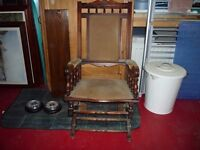 Lovely old rocking chair for sale