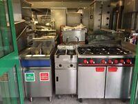 VALENTINE FRYER TWIN TANK CATERING COMMERCIAL FAST FOOD RESTAURANT KEBAB CHICKEN BBQ SHOP KITCHEN