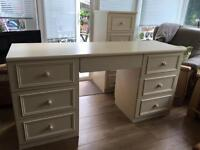 Sharps dressing table in cream. VGC