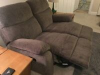 Like New! Reclining 2 Seater Sofa/Settee In Excellent Condition. Just Reduced Price!