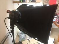 Interfit F5 Two-Head Fluorescent Lighting Kit with Boom Arm
