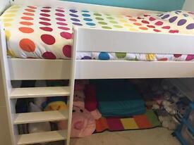 Cabin bed in white wood \ single