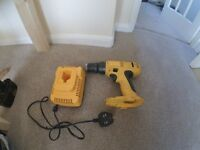 Dewalt 18V cordless drill-body and charger only