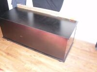 Black chest blanket box ideal storing towels toys etc