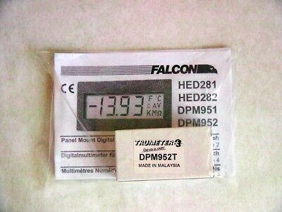 Trumeter Dpm952t Digital Lcd Panel Meter 3.5 Digit Green Led Backlight Falcon