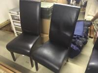 John Lewis table and leather chairs