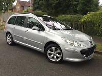 Peugeot 307 SW 1.6i S estate - almost 1 owner from new with FSH & high spec !