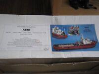 model slipway aziz tug rc model kit