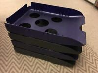 4 stackable in-trays - great condition