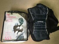 Mothercare Baby Carrier, 3 positions, brand new with bag. Black.