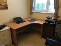 160x120cm right hand office desk