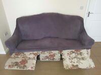 Sofa + 2 recliner armchairs